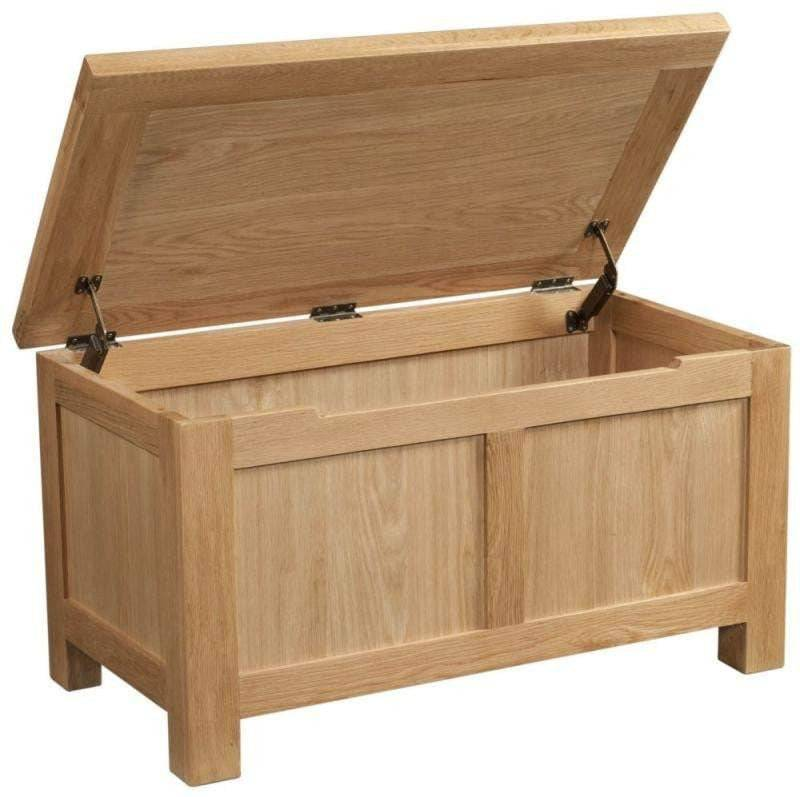Kingston Oak Blanket Box