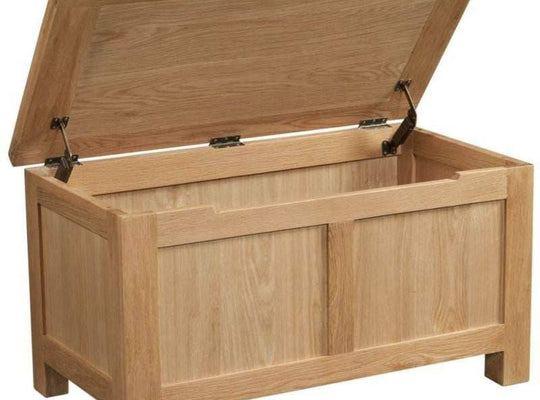Kingston Oak Blanket Box - inspired-room.myshopify.com