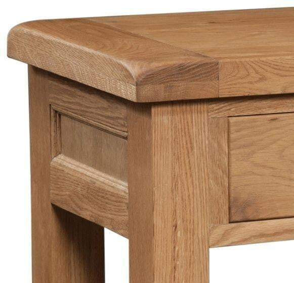 Trafalgar Oak Console Table with 2 Drawers - Inspired Rooms