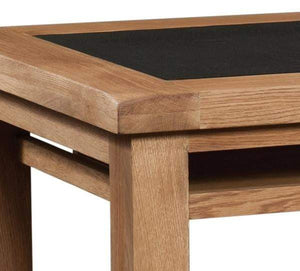 Load image into Gallery viewer, Trafalgar Oak 3 Drawer Office Desk with UKFR PU Top. - inspired-room.myshopify.com