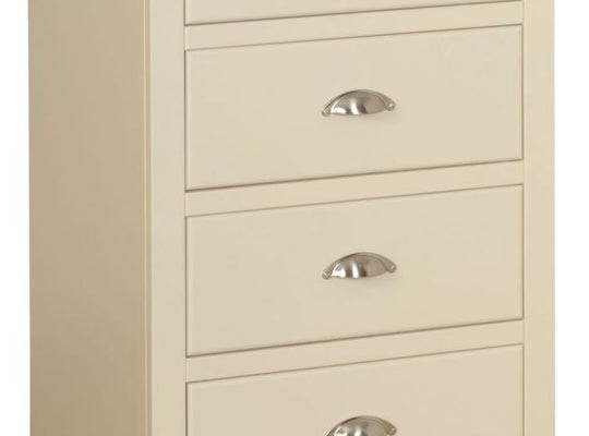 Cassis Painted 4 Drawer Bedside Cabinet