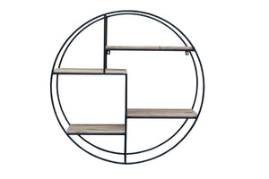 Atlantis Circle Wall Shelf 90 x 21 x 90cm - inspired-room.myshopify.com