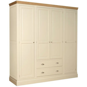 Cassis Painted Quad Wardrobe