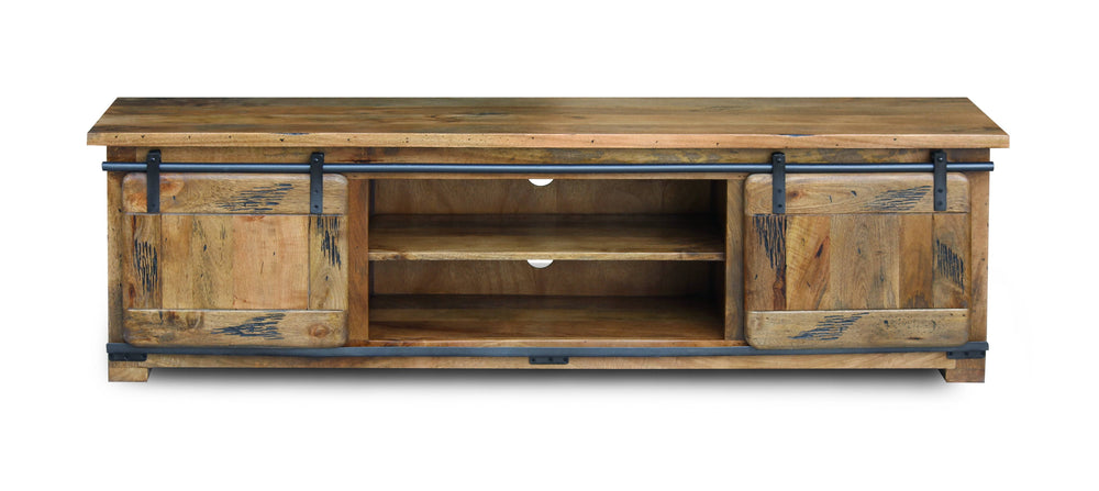 Solid Mango Large TV Stand 180 x 45 x 50cm - inspired-room.myshopify.com