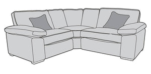 Exeter Small Corner Sofa - L1, CO, R1