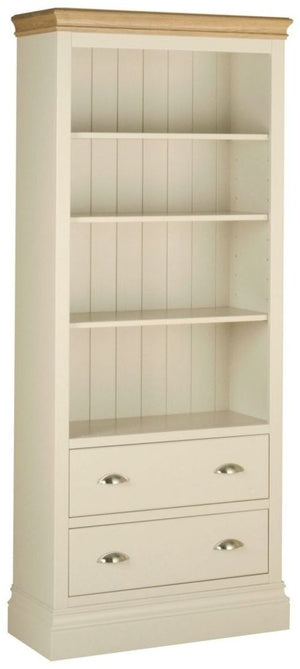 Cassis Painted Tall Bookcase with Drawer