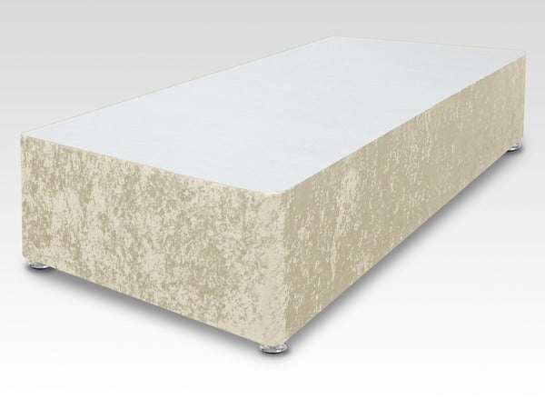 Universal Crushed Velvet 3ft Single Divan Base