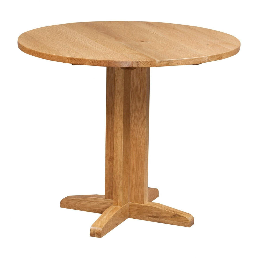 Oak Round Drop Leaf Dining Table - inspired-room.myshopify.com