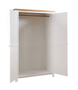 Kingston Cream Painted Double Full Hanging Wardrobe - inspired-room.myshopify.com