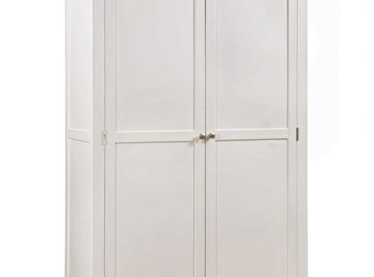 Kingston Cream Painted Double Full Hanging Wardrobe - Inspired Rooms