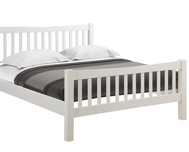 "Kingston Cream 4'6"" Bed - Inspired Rooms Furniture Superstore"