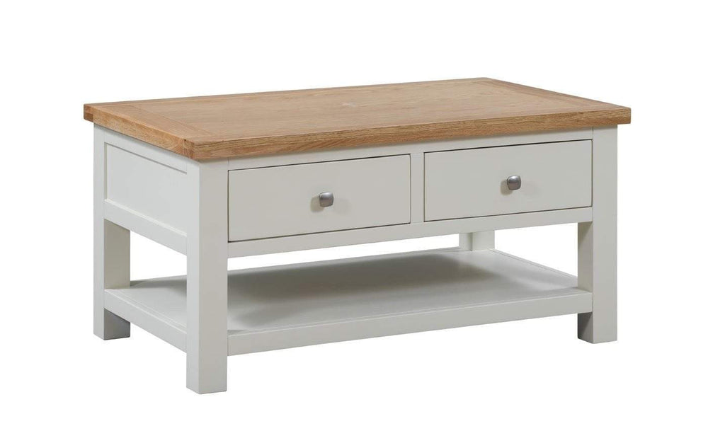 Kingston Cream Coffee Table With 2 Drawers