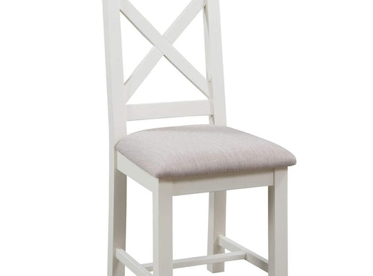 Kingston Cream Cross Back Chair - Inspired Rooms