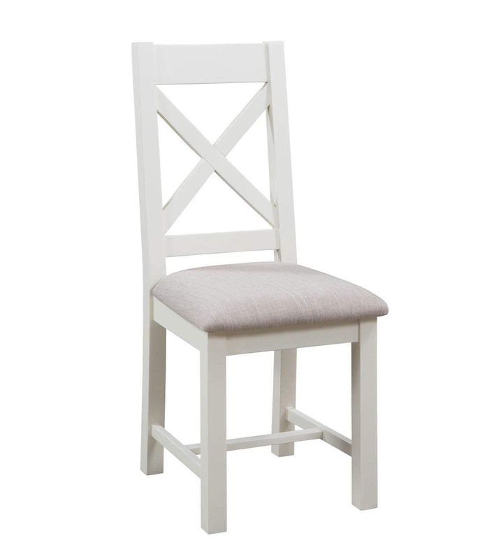 Kingston Cream Cross Back Chair - Inspired Rooms Furniture Superstore