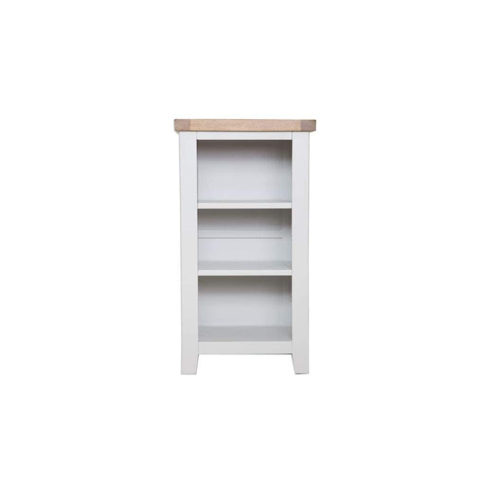 French Grey Painted Small Bookcase / DVD Unit