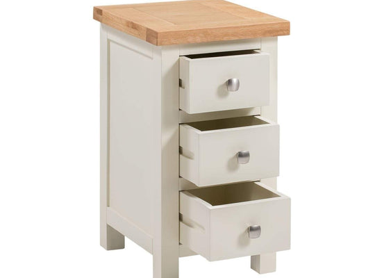Kingston Cream Compact Bedside Chest - Inspired Rooms