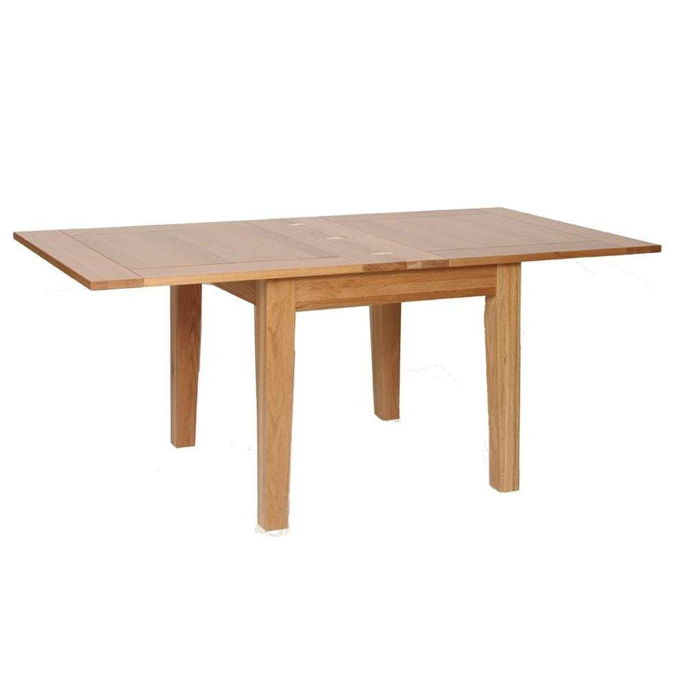 Solid Oak 3' x 3' Flip Top Extendable Dining Table