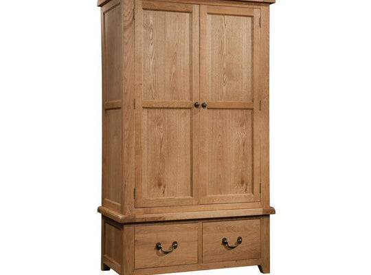 Double Wardrobe with 2 Drawers - inspired-room.myshopify.com
