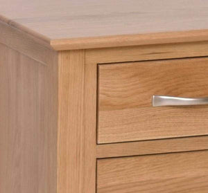 Load image into Gallery viewer, 3 Drawer Solid Oak High Bedside Cabinet - inspired-room.myshopify.com