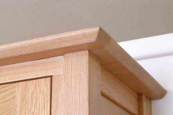 Solid Oak Double Wardrobe with Drawer - inspired-room.myshopify.com