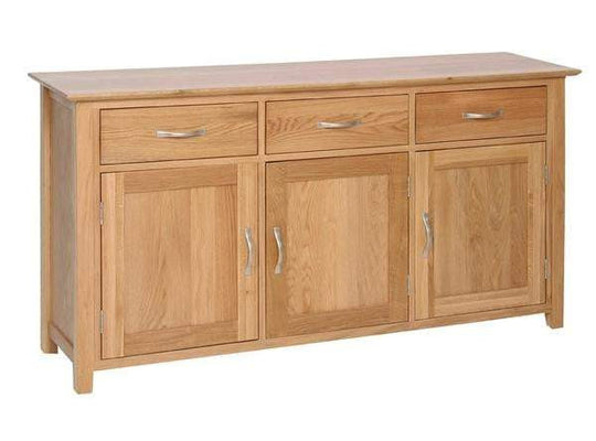 Large Solid Oak Sideboard - inspired-room.myshopify.com