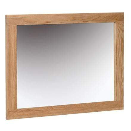 Solid Oak Wall Mirror 750 x 600
