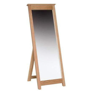 Solid Oak Cheval Mirror - inspired-room.myshopify.com