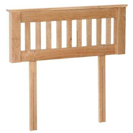Blenheim Solid Oak Slatted Headboard - Inspired Rooms Furniture Superstore