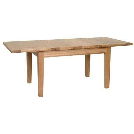 "Solid Oak 4' 4"" x 3' Extendable Dining Table with 2 leaf - Inspired Rooms Furniture Superstore"