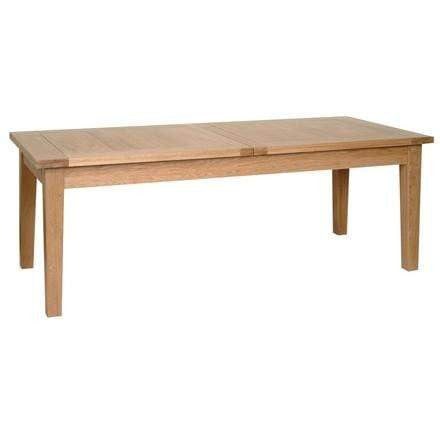 "Solid Oak 6' 7"" x 3' Extendable Dining Table with 2 leaf"