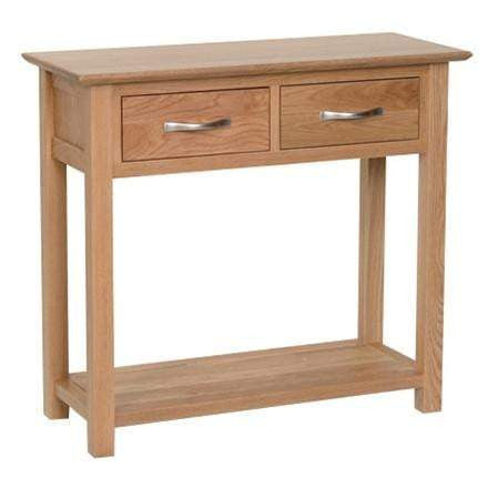 Solid Oak Console Table with 2 Drawers - Inspired Rooms