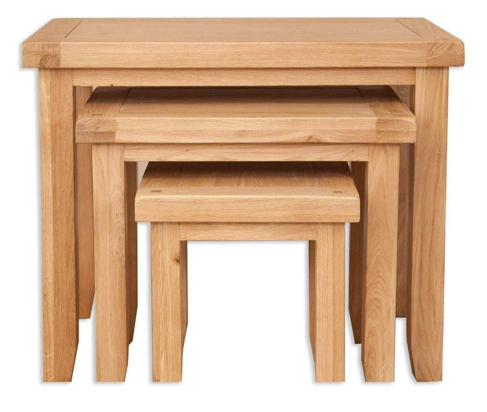New Havana Oak Nest of Tables - Inspired Rooms Furniture Superstore