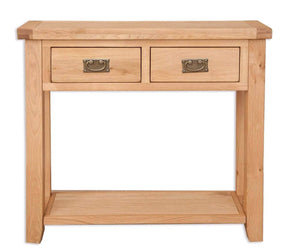 New Havana Oak 2 Drawer Console Table - inspired-room.myshopify.com