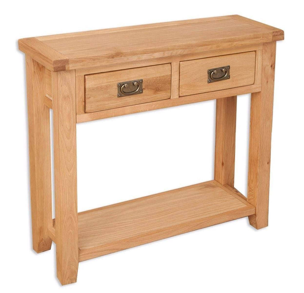 New Havana Oak 2 Drawer Console Table - Inspired Rooms Furniture Superstore