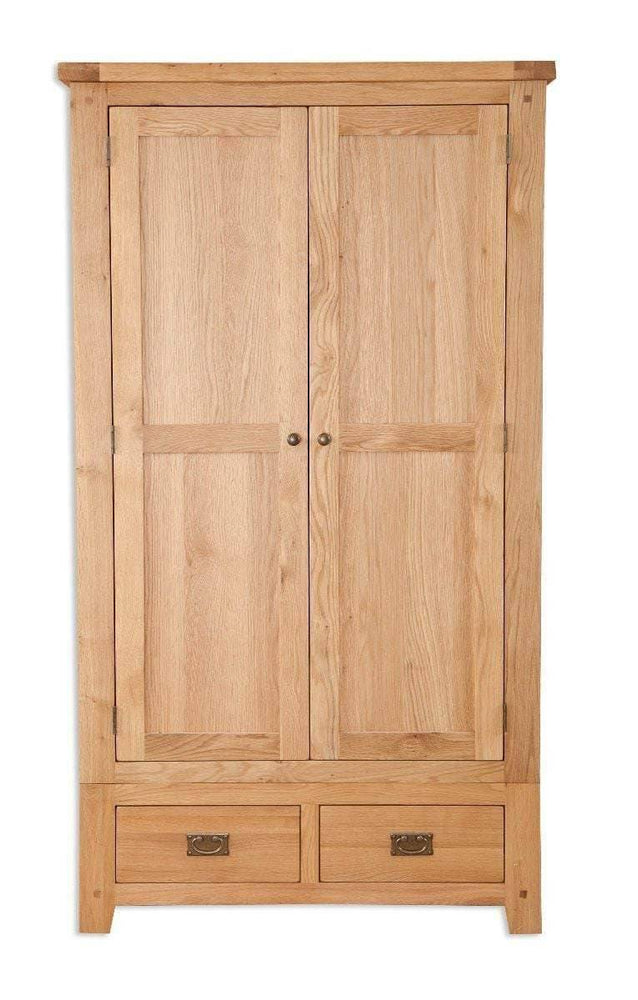 New Havana Oak 2 Door 2 Drawer Wardrobe