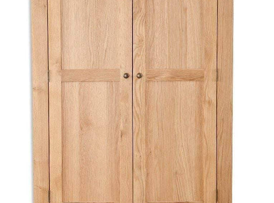 New Havana Oak 2 Door 2 Drawer Wardrobe - Inspired Rooms