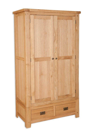 New Havana Oak 2 Door 2 Drawer Wardrobe - inspired-room.myshopify.com