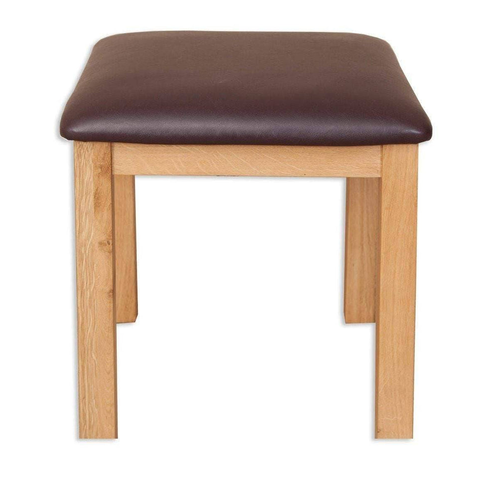 Load image into Gallery viewer, New Havana Oak Dressing Stool - inspired-room.myshopify.com