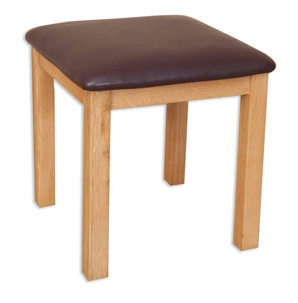 New Havana Oak Dressing Stool - Inspired Rooms Furniture Superstore