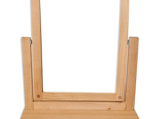 New Havana Oak Dressing Mirror - Inspired Rooms Furniture Superstore