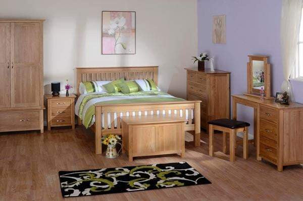 Load image into Gallery viewer, Solid Oak Triple Wardrobe with 2 Drawers - inspired-room.myshopify.com