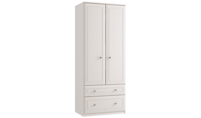 Double Tall 2 Drawer Gents Wardrobe