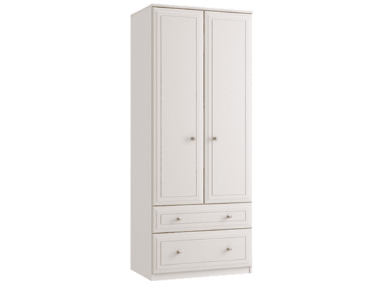 Double Tall 2 Drawer Gents Wardrobe - Inspired Rooms Furniture Superstore