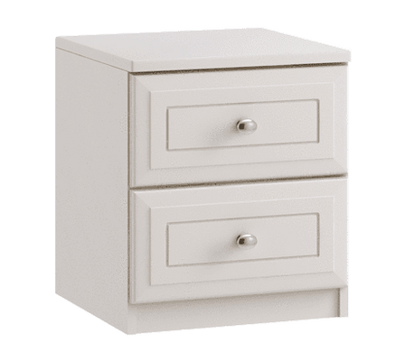 Ravello 2 Drawer Bedside - Inspired Rooms
