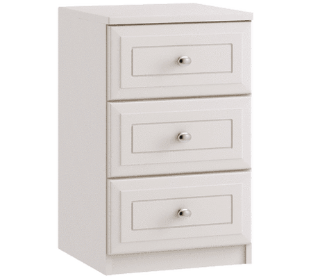 Ravello 3 Drawer Bedside - Inspired Rooms