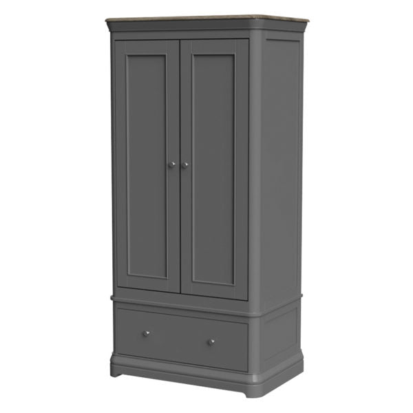 Double Wardrobe with Drawer