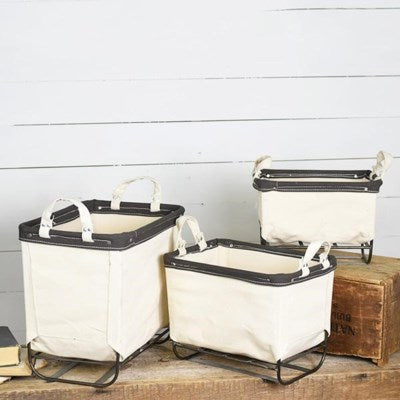 INDUSTRIAL STORAGE BASKETS (Set of 3)