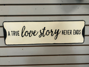 Love Story Street Sign