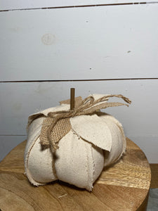 "6"" Fabric Pumpkin"