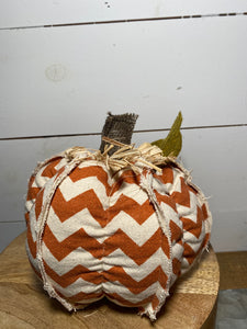 "7"" Chevron Orange Pumpkin"